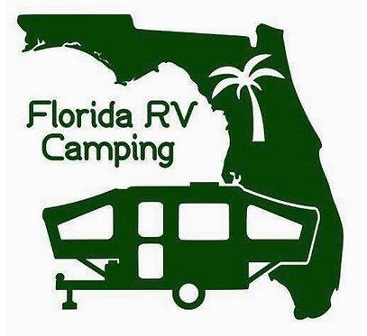 "Florida RV Camping Pop-Up Decal 6"""