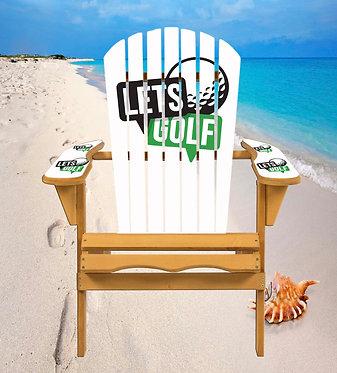 Lets Golf Adirondack Chair Wrap Decal