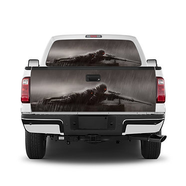 Sniper 2 Tailgate Wrap Window Decal