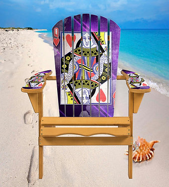 Cards Queen of Hearts Adirondack Chair Wrap