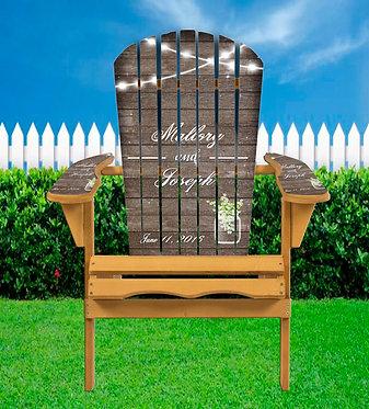Jar Wedding Adirondack Chair Wrap - Personalize