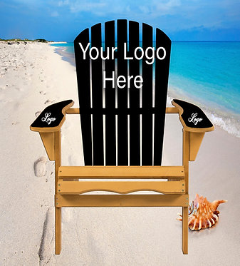 Your Design Your Logo Adirondack Chair Wrap Decal