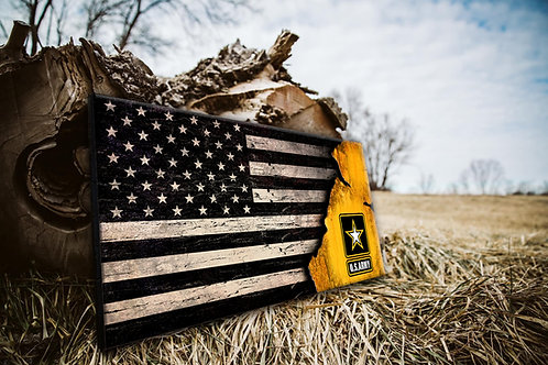 US Army Worn Wood Flag - Free Shipping