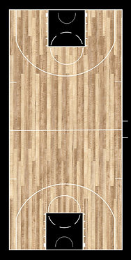 Basketball Court Wrap Set