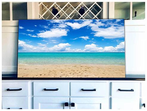 Sandy Beach Wood Art - Free Shipping