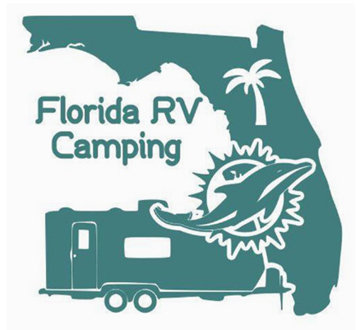 Florida RV Camping Miami Dolphins Travel Trailer Decal 6""