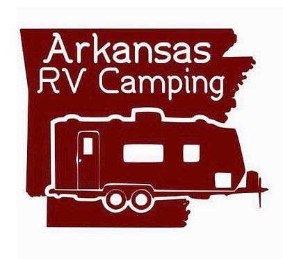 """Arkansas Double Axel Travel Trailer Decal 6"""""""