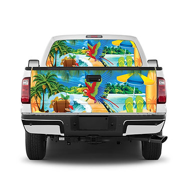 Tropical 5 Tailgate Wrap Window Decal