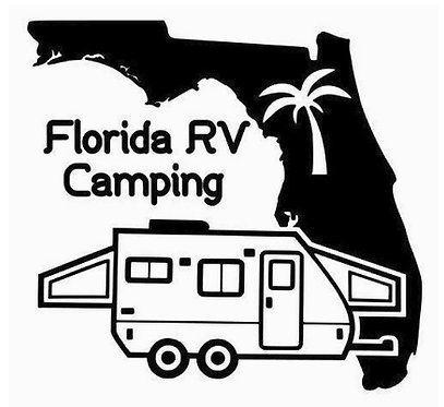 "Florida RV Camping Hybrid Travel Trailer Decal 6"""