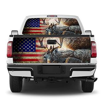 American Buck Hunters Tailgate Wrap Window Decal