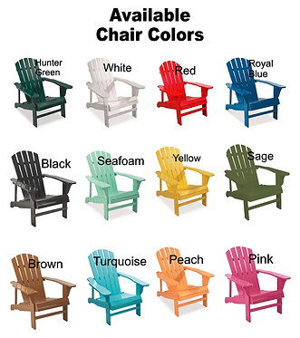 Custom Adirondack Chair with Wrap - Many Colors, We Design It, Free Shipping