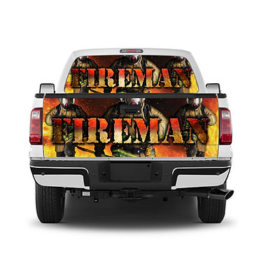 Fireman Tailgate Wrap Window Decal