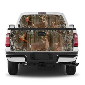 Deer Field Tailgate Wrap Window Decal