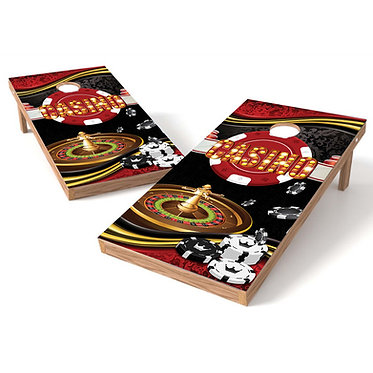Roulette Table Cornhole Wrap Decal
