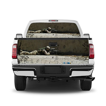 Military Sniper Tailgate Wrap Window Decal