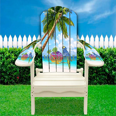 Tropical Beach Palm Trees Adirondack Chair wrap