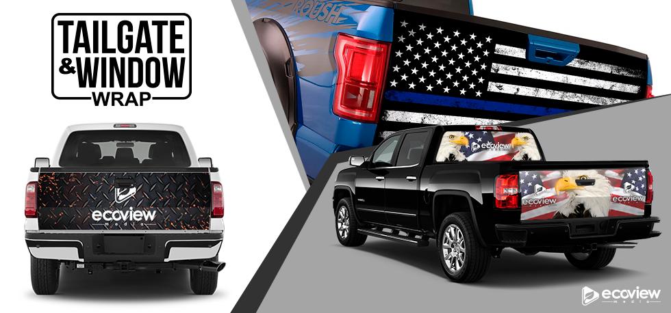 american flag tailgate wrap window vinyl graphics truck tailgate wrap truck window wrap truck lettering van lettering