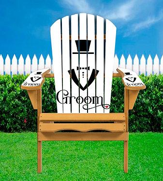 Groom Wedding Adirondack Chair Wrap