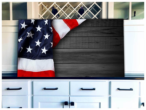 Patriotic Flag Wood Art - Free Shipping