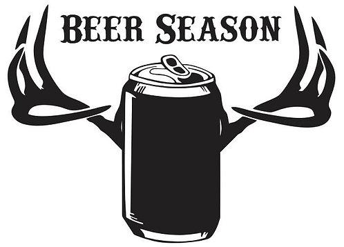Beer Season Vinyl Decal
