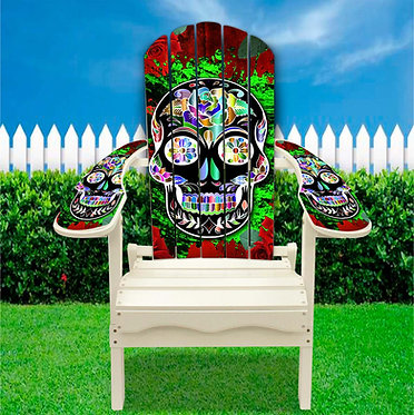 Sugar Skull Adirondack Chair wrap