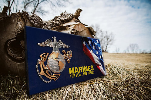 Marines The Few The Proud Wood Flag - Free Shipping