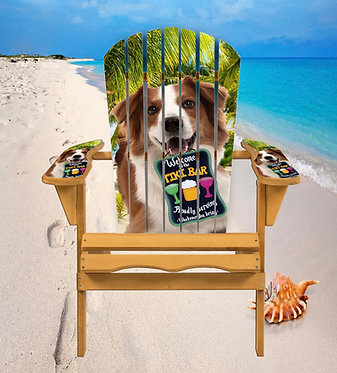 Dog Tiki Bar Adirondack Chair Wrap Decal