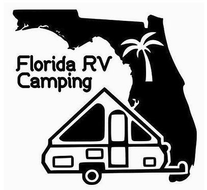 Florida RV Camping A-Frame Camper Decal 6""