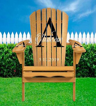 Wedding Name Adirondack Chair Wrap - Personalize