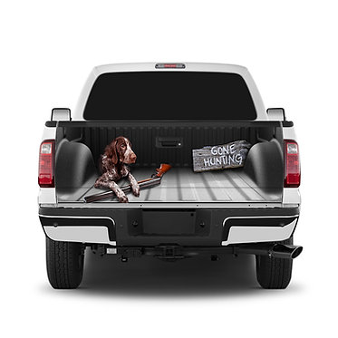 Gone Hunting Dog Tailgate Wrap Window Decal