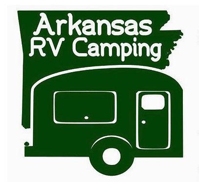 "Arkansas RV Camping Small Travel Trailer Decal 6"""