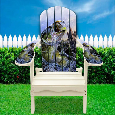 Large Mouth Bass Adirondack Chair Wrap