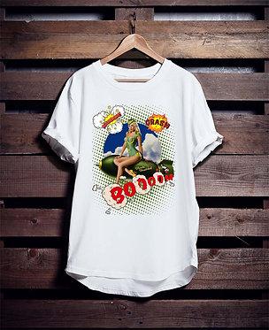 Retro Woman Rocket 4 Tshirt