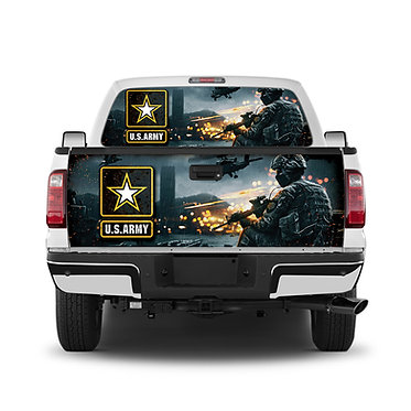 US Army Tailgate Wrap Window Decal