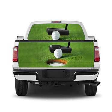 Golf Putter Tailgate Window Wrap