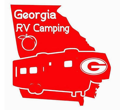 Georgia RV Camping Fifth Wheel Decal 6""