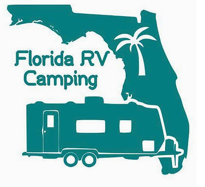 Florida RV Camping Double Axel Travel Trailer Decal 6""
