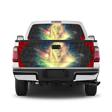 Lion Tailgate Wrap Window Decal
