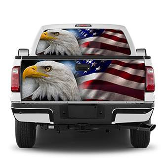 United States We Stand Eagle Tailgate Wrap Window Decal