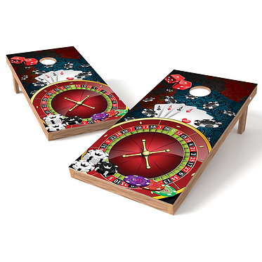 Roulette Wheel Cornhole Wrap Decal