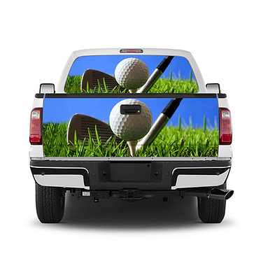 Golf Tee Time Tailgate Wrap