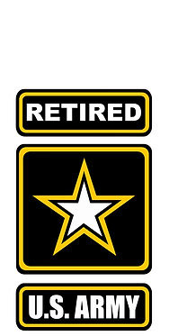 Retired US Army Vinyl Decal