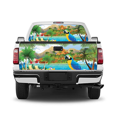 Tropical 7 Tailgate Wrap Window Decal