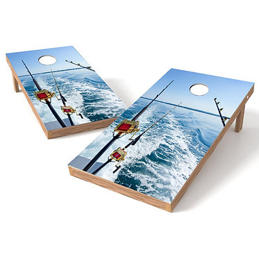 Reels Fishing Cornhole Wrap Decal