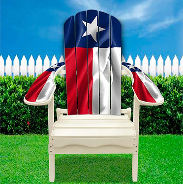 Texas Flag Adirondack Chair Wrap
