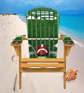 Football 50 Yardline Adirondack Chair Wrap Decal