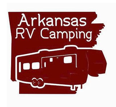 "Arkansas RV Camping Fifth Wheel Decal 6"""