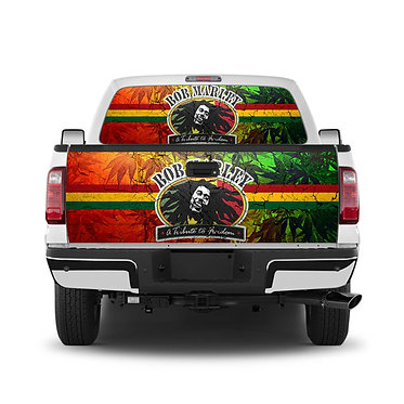 Bob Marley Tailgate Wrap Window Decal
