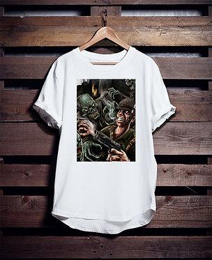Zombie vs Soldier tshirt