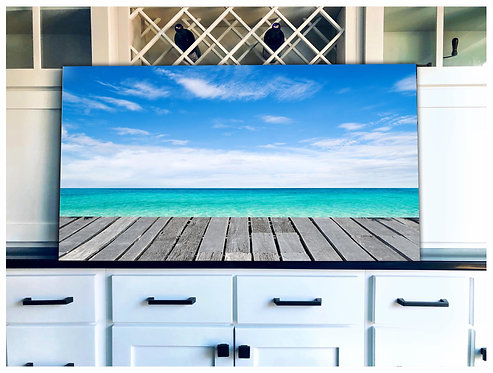 Beach Front Wood Art - Free Shipping